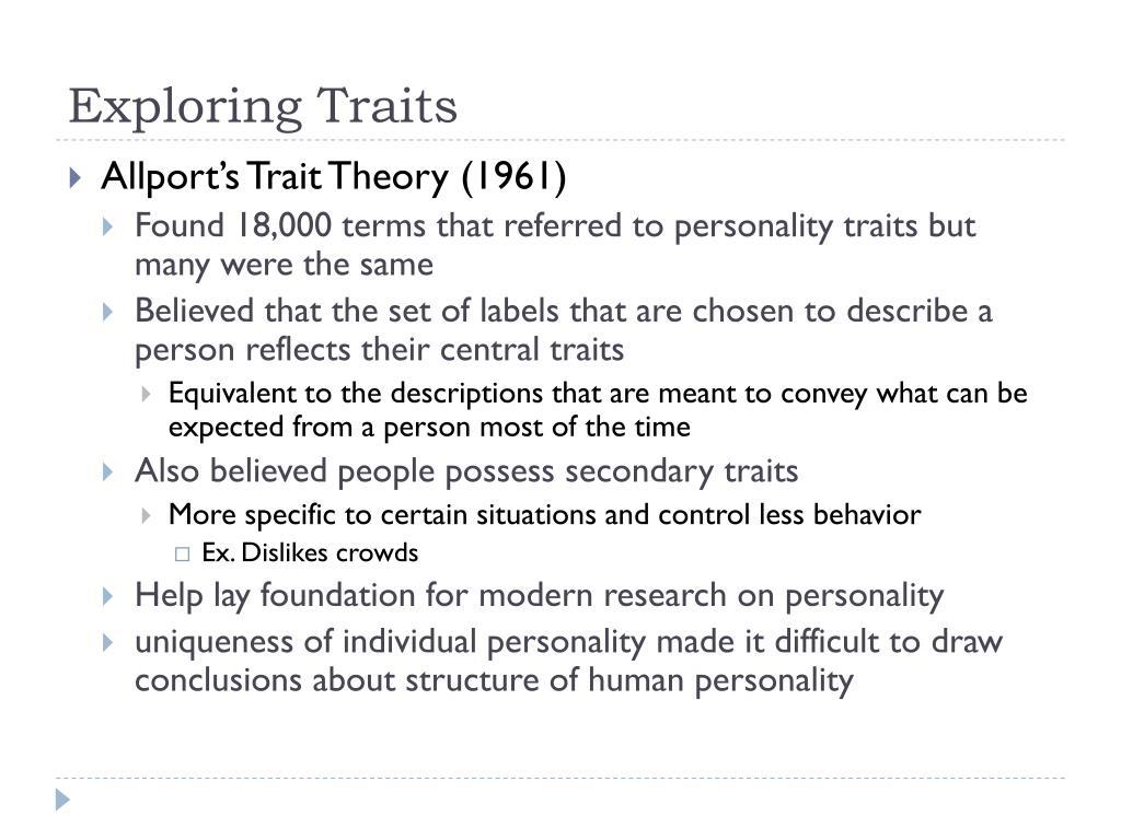 Exploring Traits