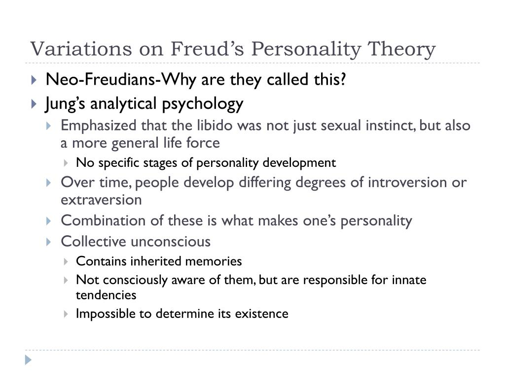 Variations on Freud's Personality Theory