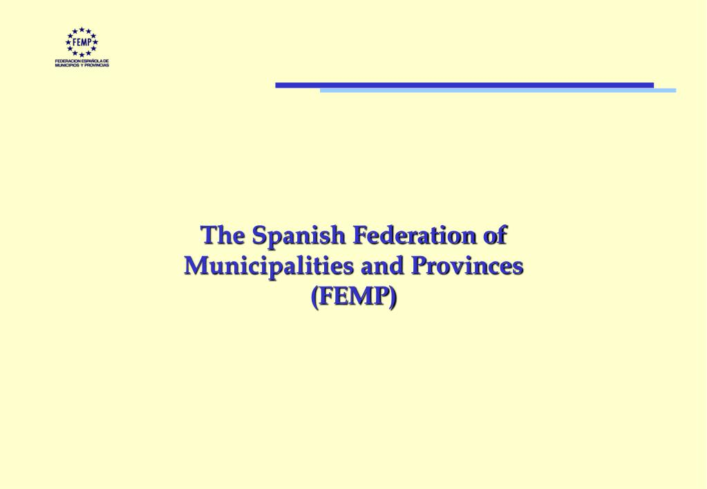 the spanish federation of municipalities and provinces femp l.