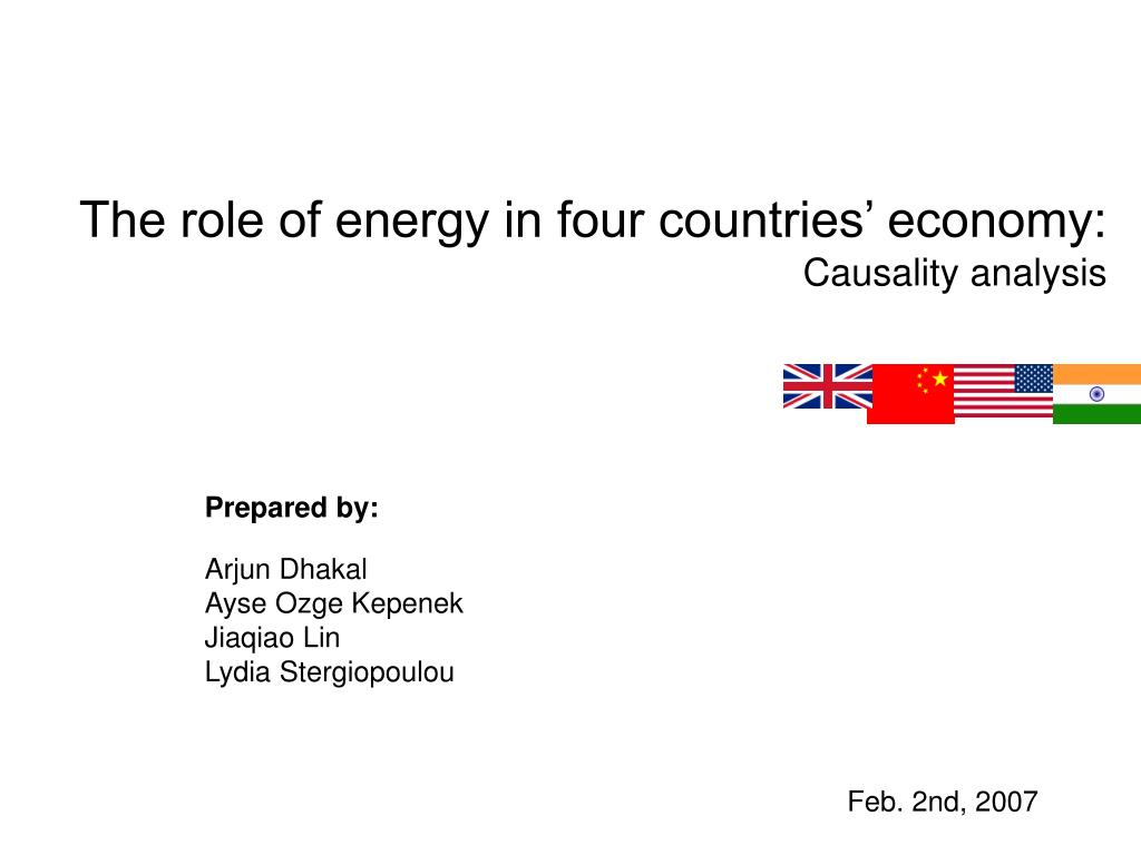 the role of energy in four countries economy causality analysis l.