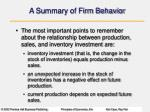 a summary of firm behavior1