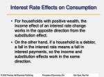 interest rate effects on consumption1