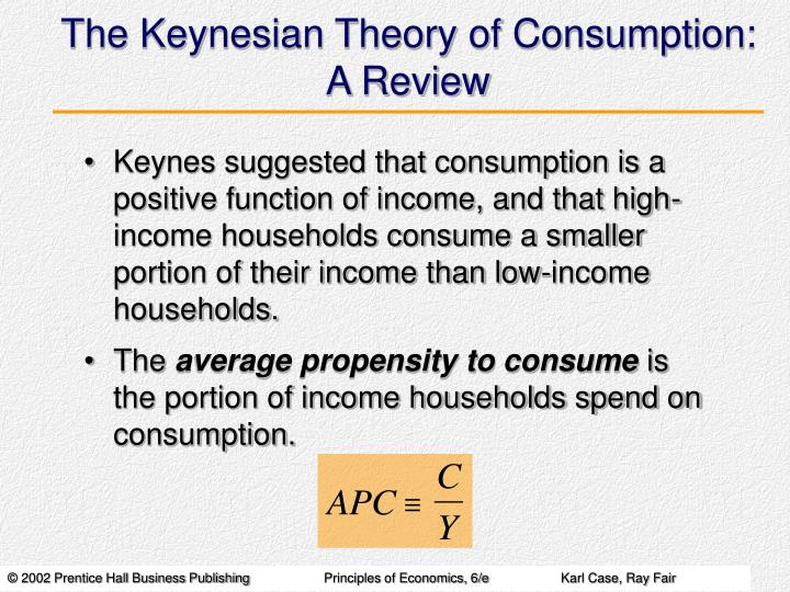 the keynesian theory of consumption a review n.