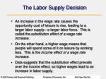 the labor supply decision1