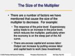 the size of the multiplier1