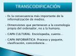 transcodificaci n