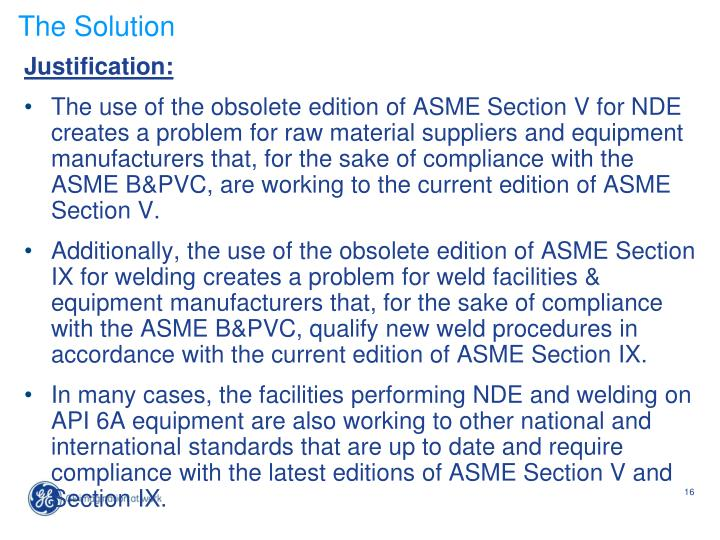 Ppt New Item Api Spec 6a Asme Section V And Section Ix