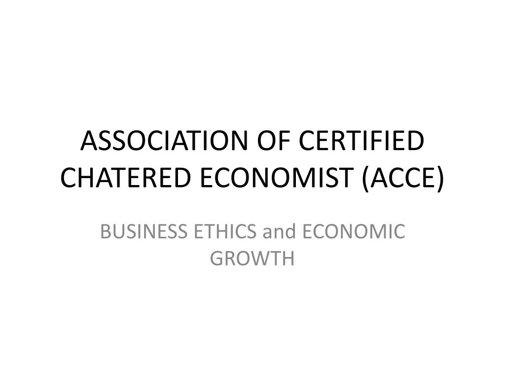 association of certified chatered economist acce l.