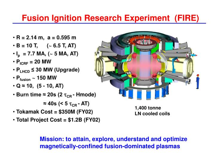 Fusion Ignition Research Experiment  (FIRE)