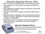 electronic signature devices esd