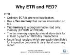 why etr and fed