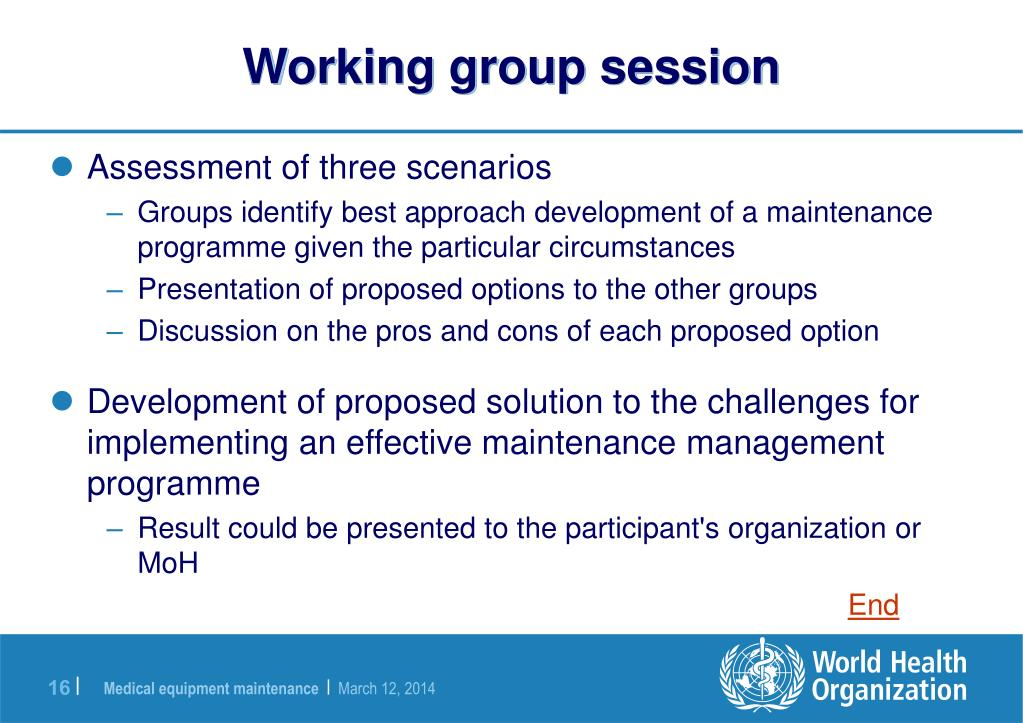 Working group session