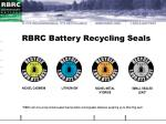 rbrc battery recycling seals