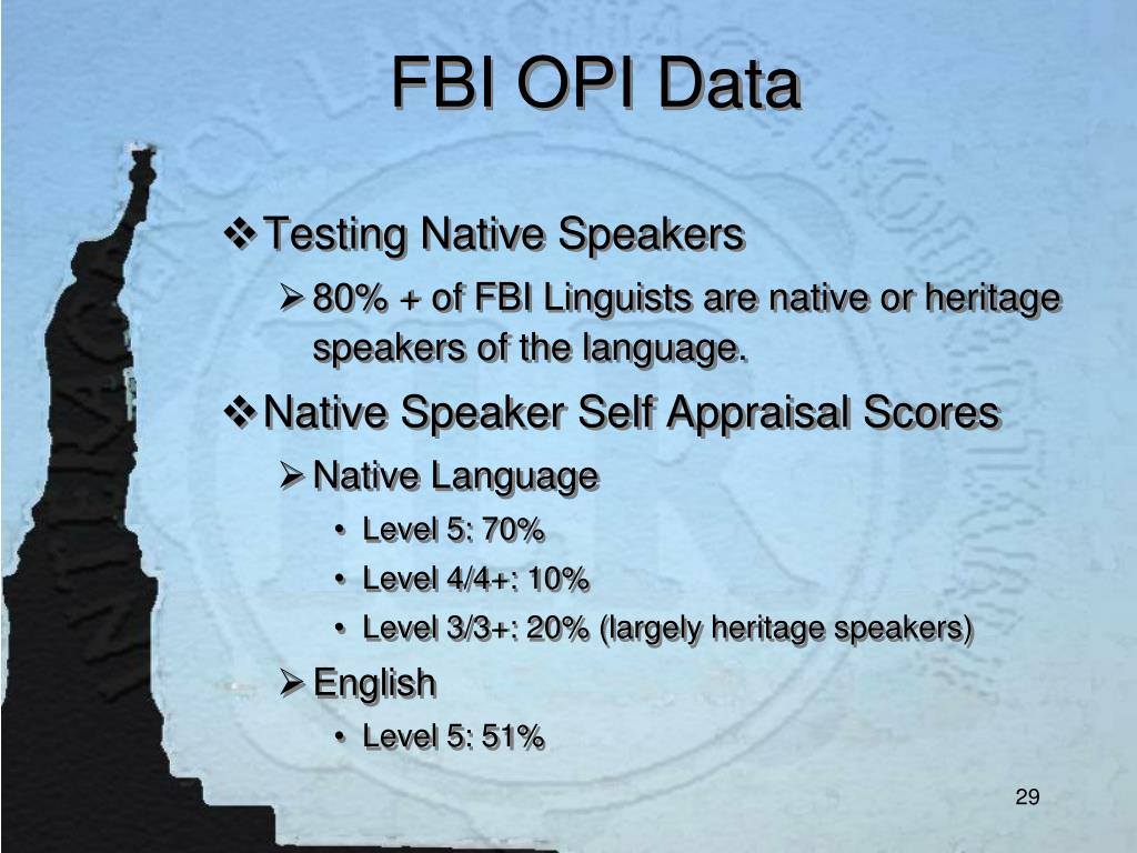 FBI OPI Data
