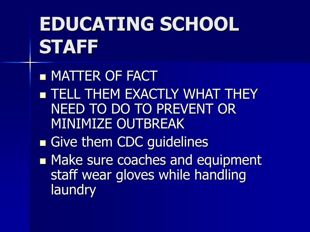 EDUCATING SCHOOL STAFF