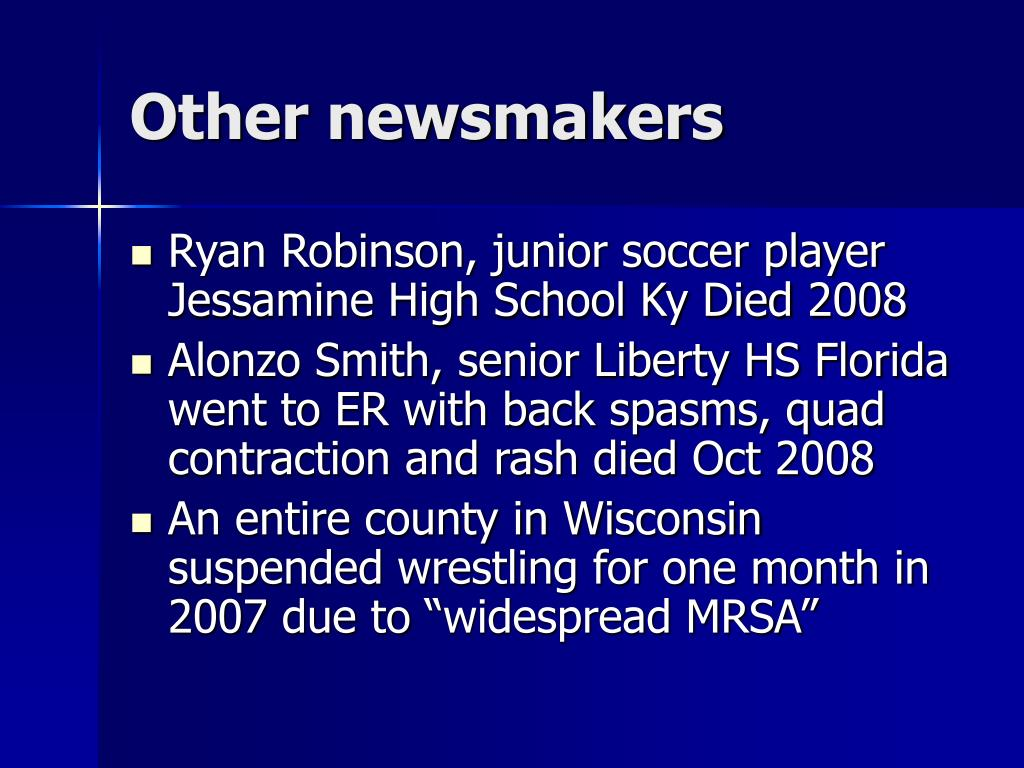Other newsmakers