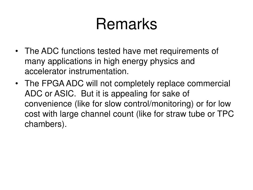 PPT - TDC and ADC Implemented Using FPGA PowerPoint