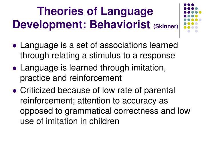 skinner language development
