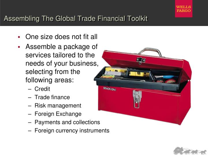 Assembling the global trade financial toolkit