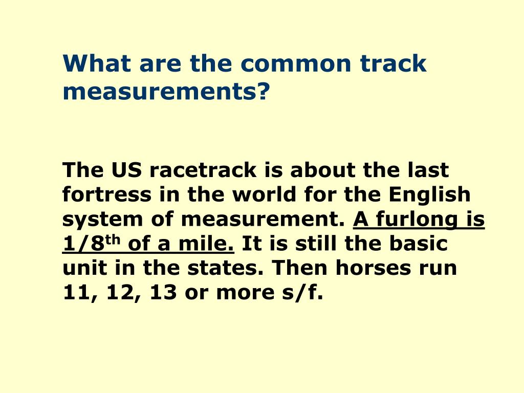 What are the common track measurements?