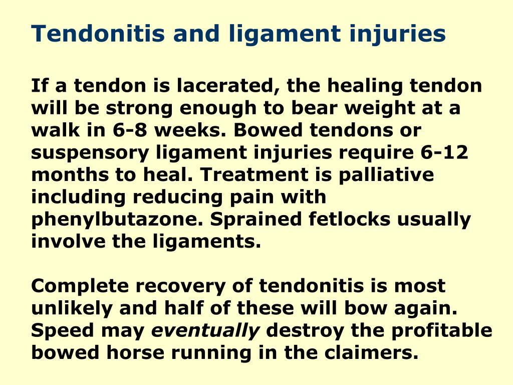 Tendonitis and ligament injuries