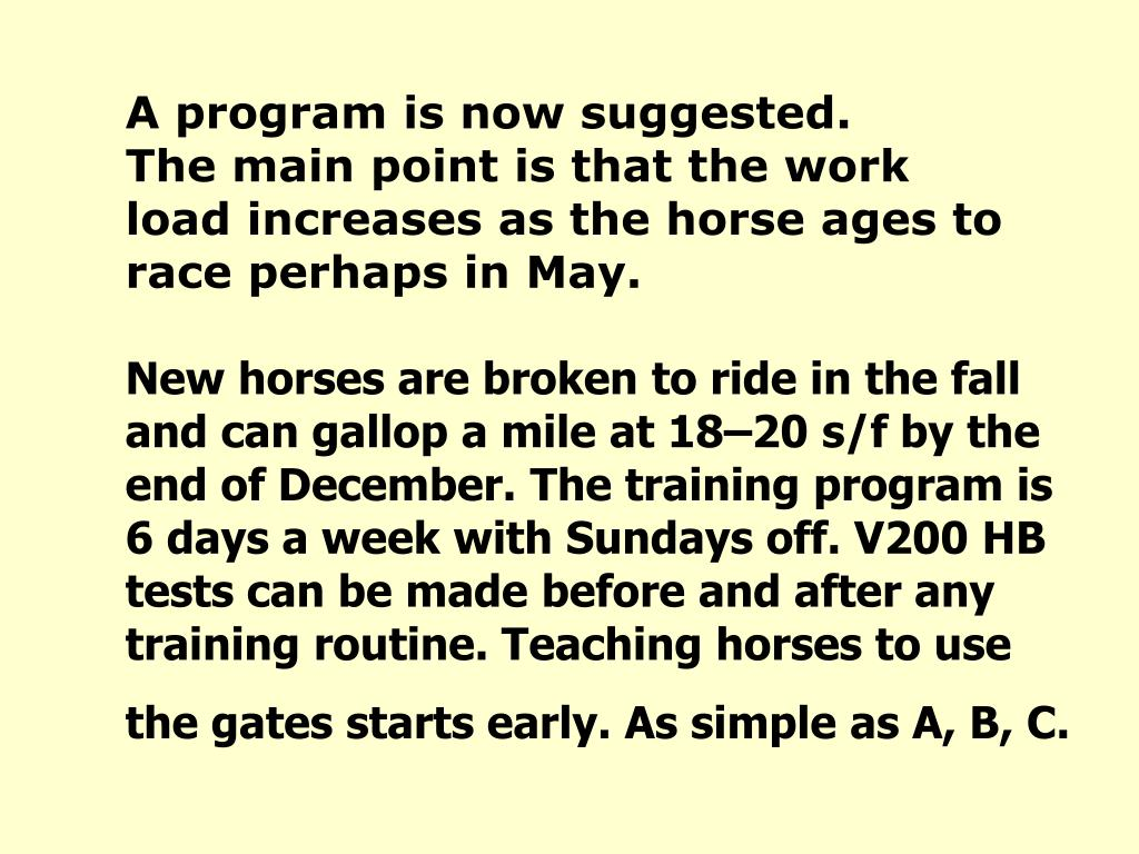 A program is now suggested.                   The main point is that the work