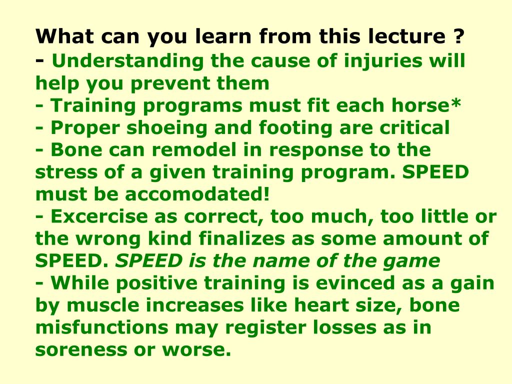 What can you learn from this lecture ?
