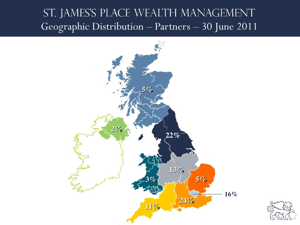 Geographic Distribution – Partners – 30 June 2011