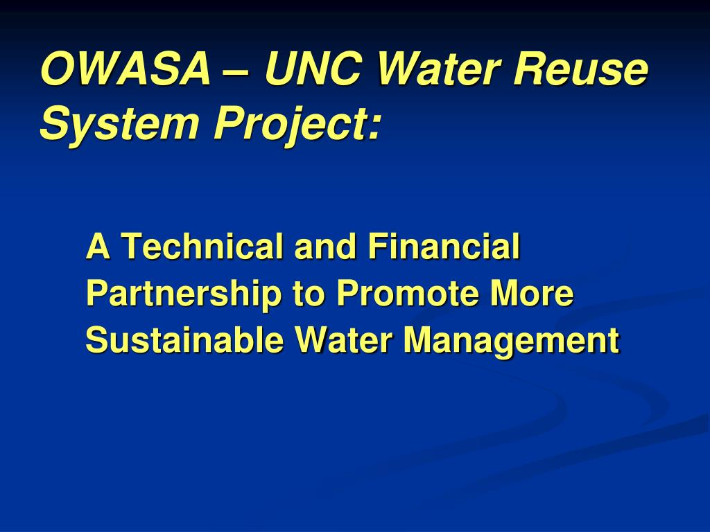owasa unc water reuse system project l.