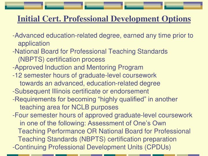 PPT - State of Illinois Teacher Certification, Recertification and ...