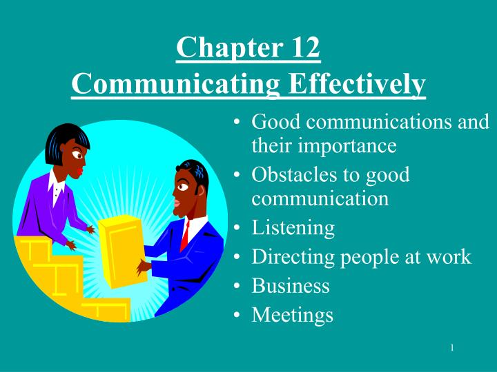 communicating effectively at work Communication is important in a workplace setting because people must interact with one another in ways that will get the job done as quickly and effectively as possible and in ways that will maintain the morale of the employees both of these are important aspects of workplace communications in.