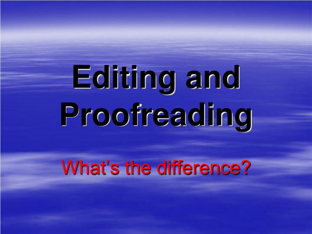 English In Italian: Editing And Proofreading PowerPoint Presentation