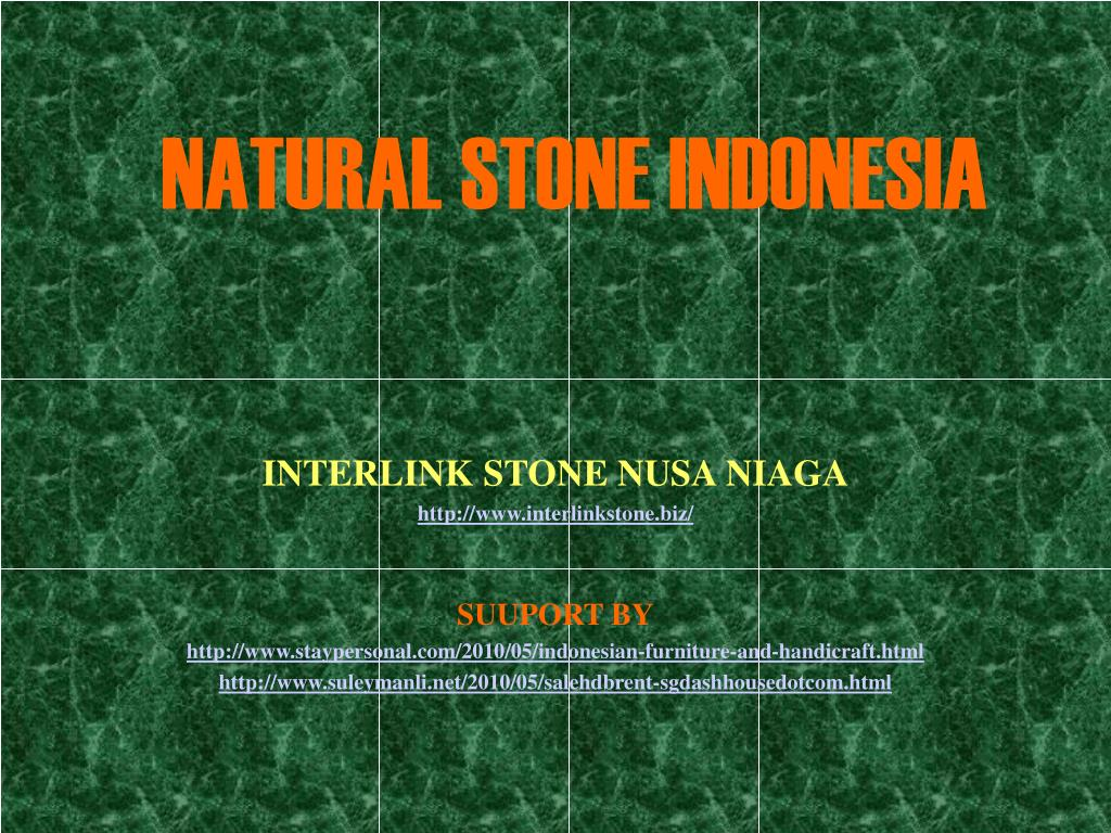 natural stone indonesia l.