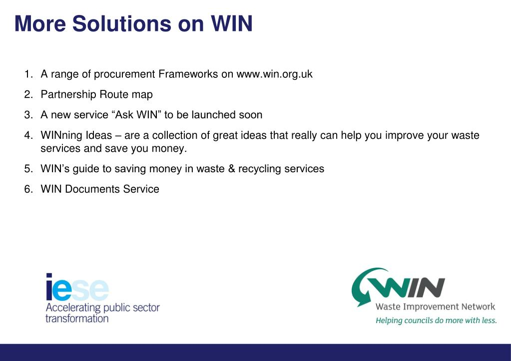 More Solutions on WIN