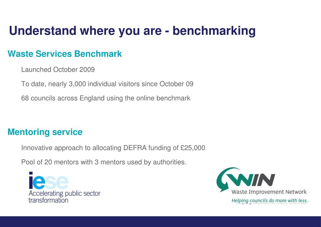 Understand where you are - benchmarking