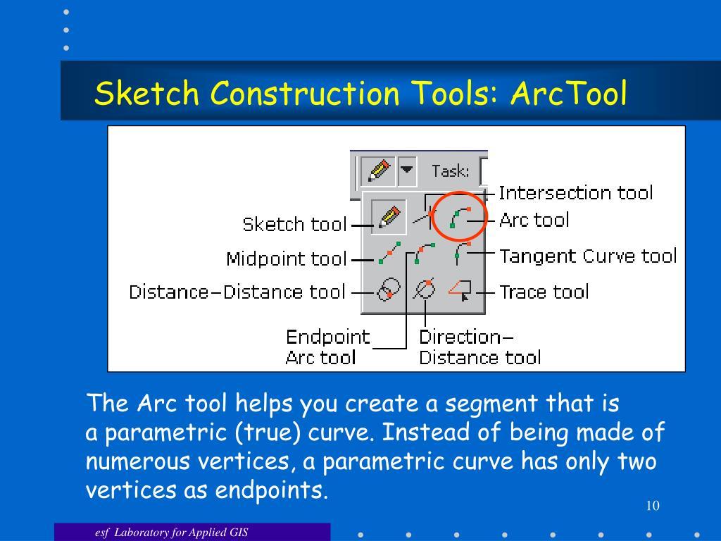 Sketch Construction Tools: ArcTool