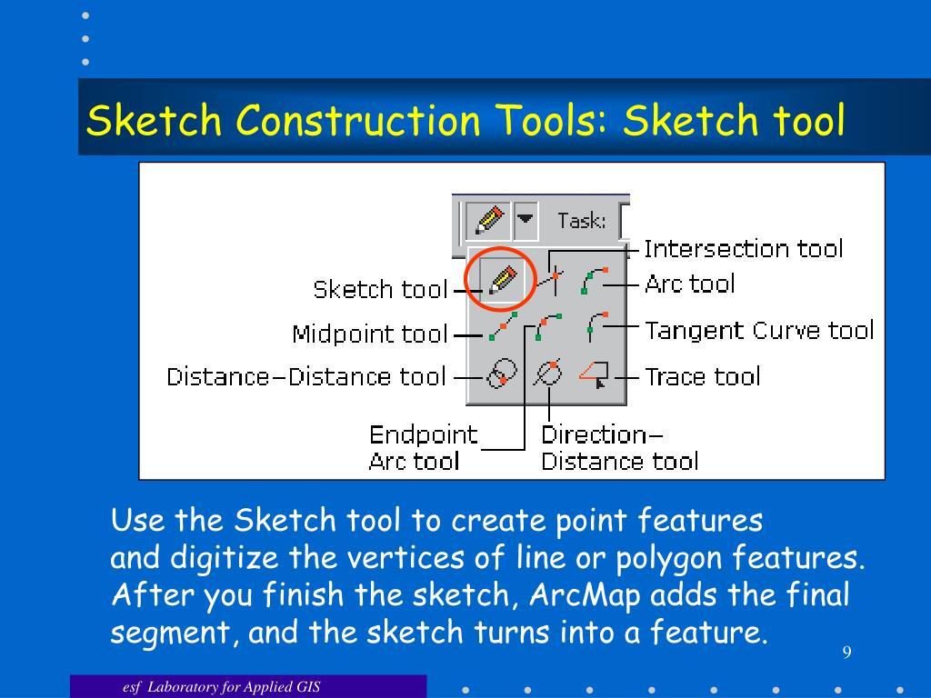Sketch Construction Tools: Sketch tool