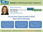 session 1 marketing sales integration