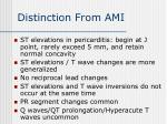 distinction from ami