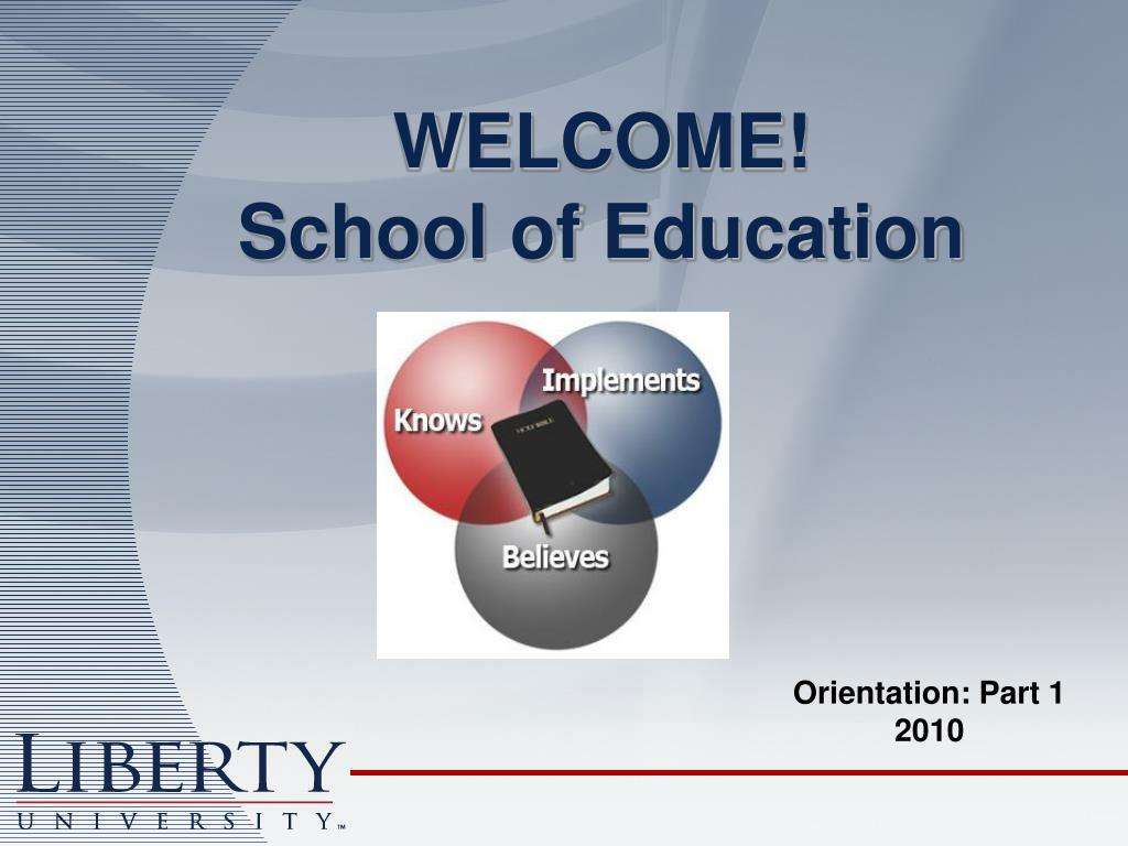 welcome school of education l.