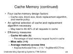 cache memory continued49