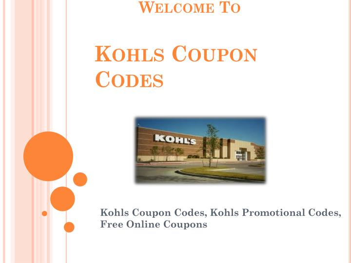welcome to kohls coupon codes n.