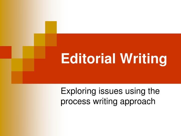 editorial writing n.