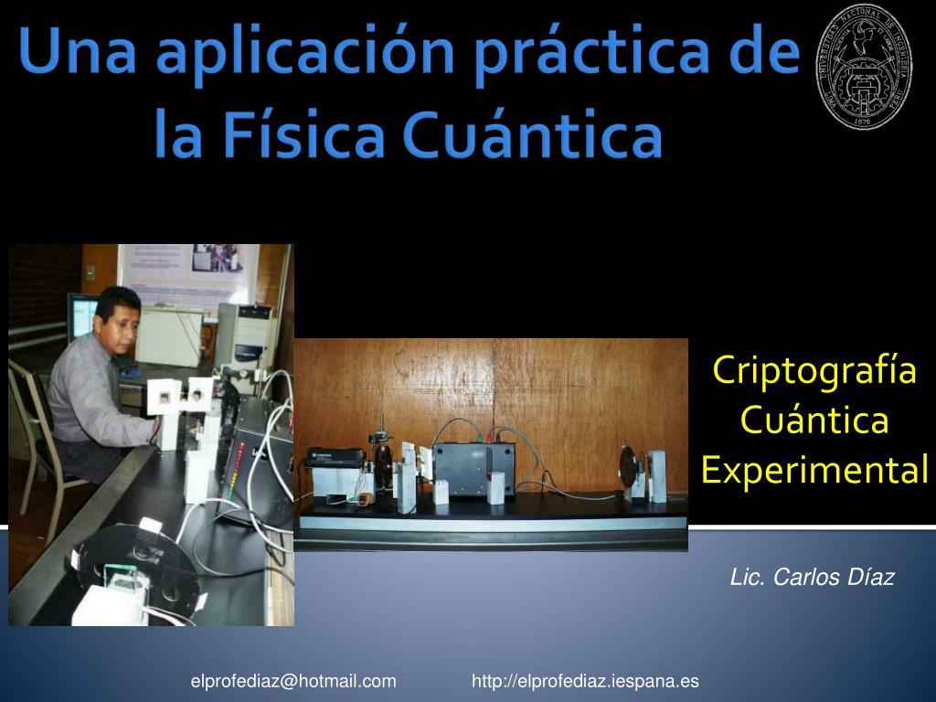 criptograf a cu ntica experimental l.