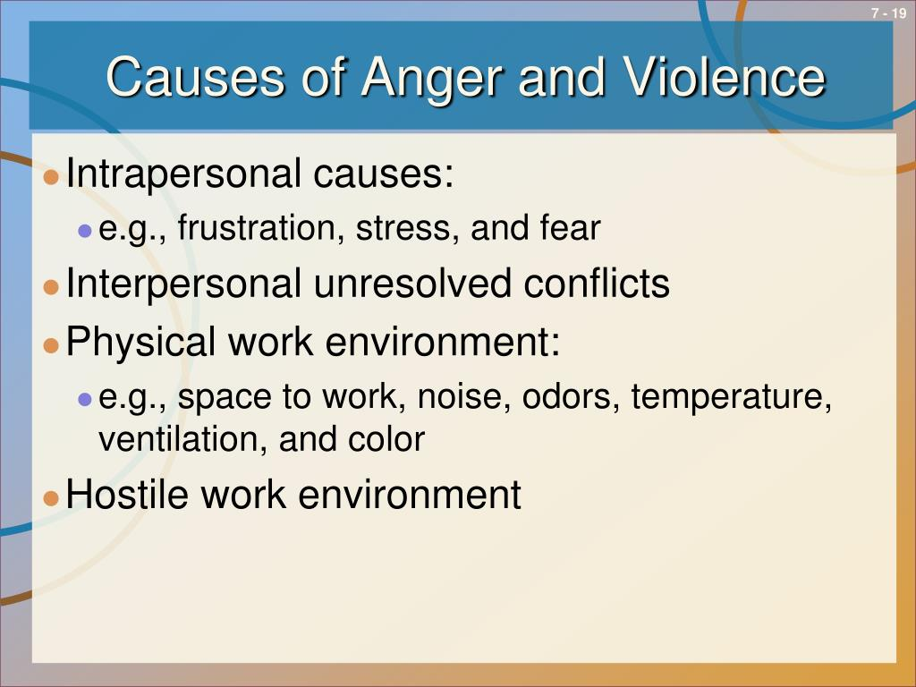 Causes of Anger and Violence