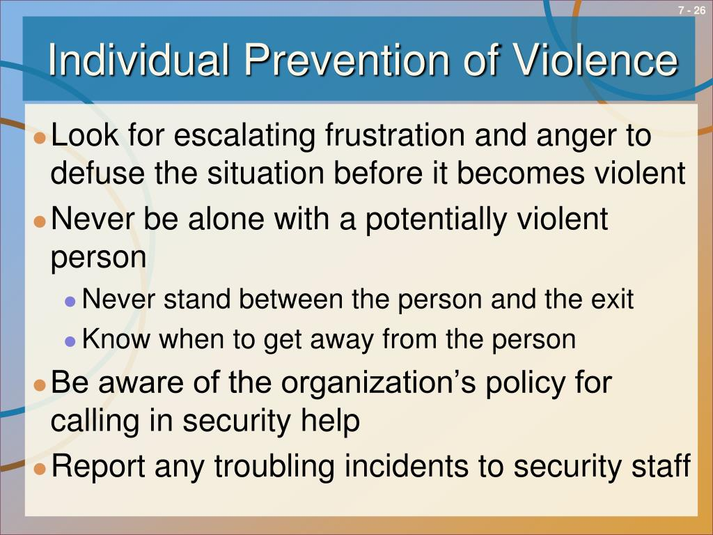 Individual Prevention of Violence