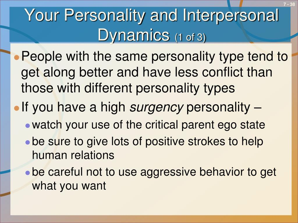 Your Personality and Interpersonal Dynamics