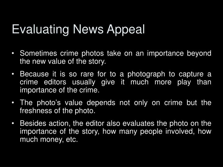 Evaluating News Appeal