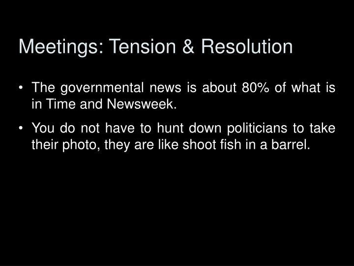 Meetings: Tension & Resolution
