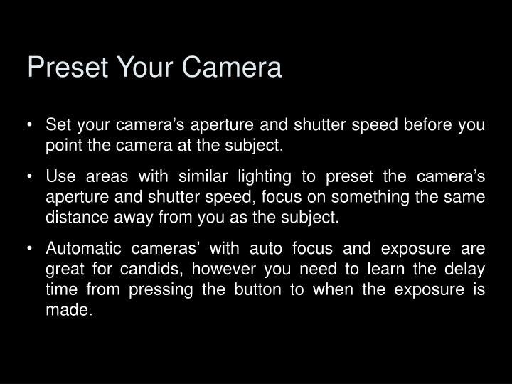 Preset Your Camera